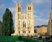 BRUSSELS, Cathedral of Saint Michael and Gudule