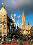 ANTWERP, the Suikerrui street and the Cathedral
