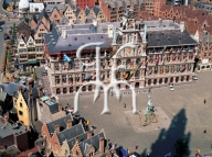 ANTWERP, the main square and the city hall
