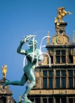 ANTWERP, main square, statue of Brabo